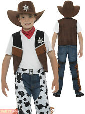 Boys Texan Cowboy Costume Childs Wild Western Woody Fancy Dress Book Week Outfit