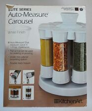 KitchenArt Elite Series Auto Measure Carousel Spice Rack White 80082 Cupboard