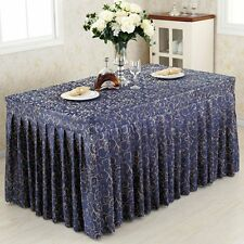 Tina 8'ft. Fitted Table Skirt Tablecloth Wedding Banquet Event Pleated Polyester