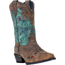 Dan Post Cowboy Certified Kids Brown Vintage Bluebird Boots Leather