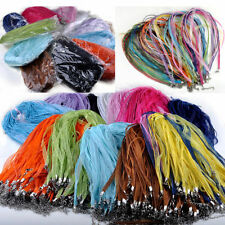 50Pc Wholesale Organza Voile String ribbon Cord Necklace Lobster Clasp Chain DIY