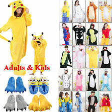 Kids Adults Cute Animal Kigurumi Pajamas Cosplay Onese Sleepwear Slippers Shoes