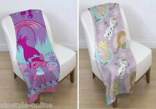 Official Licensed Character Fleece Blankets Childrens Bedroom Snuggle Throw