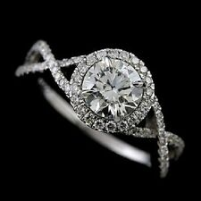 1.5CT Forever Brilliant Moissanite Diamond Pave Set Platinum 950 Engagement Ring