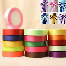 25 yards satin ribbon wedding craft sewing decorations many color width 6-40mm