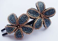 NEW Fashion Crystal Rhinestone Flower Hair Comb Clip barrette hair pin 1