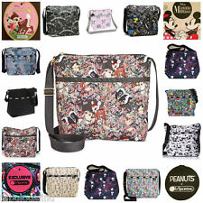 LeSportsac Small Cleo Crossbody Bag Disney Minnie Mouse,Snoopy,NYC,Free Ship NWT
