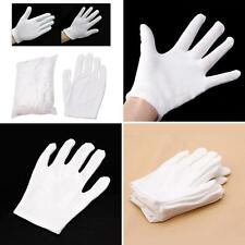 12 Pairs White Inspection Cotton Work Gloves Coin Jewelry Lightweight Virtuous