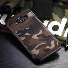 BROWN Camouflage iPhone 5 6 7 Samsung S7 S8 Note Military Case Camo Army + GLASS