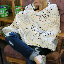 Baby Mum Breastfeeding Nursing Udder Covers Poncho Cover Up Cotton Blanket Shawl
