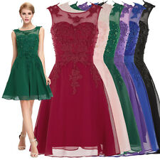 Short Beaded Dress Formal Bridesmaid Homecoming Cocktail Evening Party Prom Gown