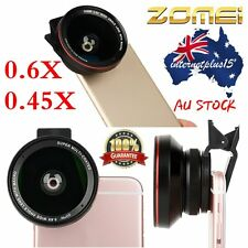 ZOMEI 2in1 Clip Universal Cell phone Wide Angle+Macro Camera Lens For iPhone Lot