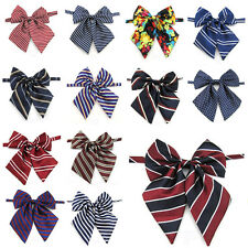 Ladies Girl Pre-tied Satin Bowtie School Student Polka Dot Stripe Tie YY058
