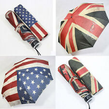 Mens Womens Fashion Flag Umbrella New design Auto Open Folding Rain umbrella