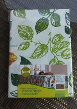 Food Network Stain-Resistant Microfiber Oblong Tablecloth Leafs 60x120, 60x102