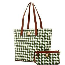 DOONEY & BOURKE LARGE ZIP WITH SMALL WRISTLET GREEN TOTE BAG