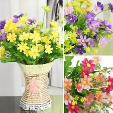 1 Bunch Wedding Bouquet Silk Fake Flowers Party Home Office Bedroom Room Decors