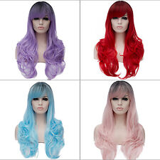 65cm Lolita Cosplay Wig Fancydress Costume Hair Women wavy Party Halloween Lot