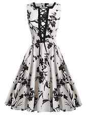 Vintage Dress Party Swing Rockabilly Evening Retro Pinup Women S Housewife 50s