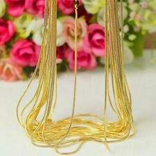 Simple DIY 18K Yellow Gold Filled 16-30 Inch Snake Chain Necklace Jewelry