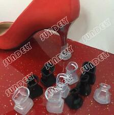 10 Pair Clear High Heel Shoes Protectors Stiletto Cover Stopper Wedding Mates