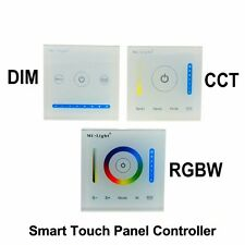Mi Light Smart Touch Panel CCT dimmer RGBW Led Controller Wall mounted 12V 24V