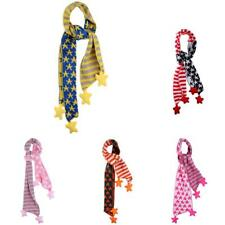 Baby Kids Cute Knitting Striped Star Design Scarf Scarves Shawl Wraps Warm
