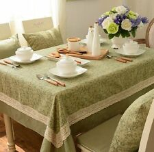 Fashion Rectangular Cotton Canvas Tablecloth Linen Dinning Table Cloth Cover