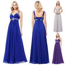 Long Maternity Chiffon Evening Formal Party Ball Gown Prom Bridesmaid Dresses