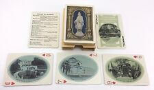 Antique Deck of GOLD 1909 Nation's Capital Souvenir PLAYING CARDS - US Playing