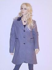 Steve Madden Womens Slim Fit Trench Long Coat Double-breasted Wool Blend Peacoat