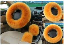 8 color Universal Soft Wool Plush Fuzzy Auto Car Steering Wheel Cover For Winter