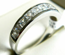 NEW Sterling Silver Ladies/ Womens CZ Channel Set Half Eternity Ring Sizes L-V