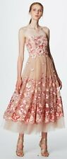 NWT Marchesa Notte Strapless Butterfly Blush Dress