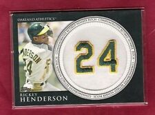2012 Topps Retired Number Patch Rickey Henderson #RN-RH