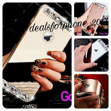 Bling Mirror Effect Soft Fitted Case with Crystal Diamond For Apple iPhone Model