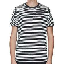 Fred Perry M1555 Fine Stripe T-Shirt Navy