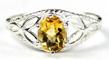Citrine, 925 Sterling Silver Ring-Handmade, SR137