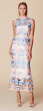 NWT Marchesa Notte Sleeveless Floral Dress in Guipure Lace