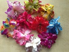Bridal Fabric Flower Hair clips Wedding Party Woman Orchid Flower Headwear