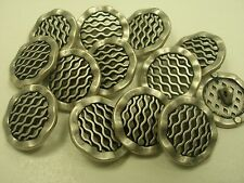 New lots of Italian Fancy Silver Nickel metal buttons sizes 7/8 11/16  #SL Italy
