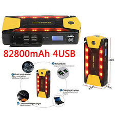 82800mAh 4USB Portable Car Jump Starter Pack Booster Charger Battery &Power Bank