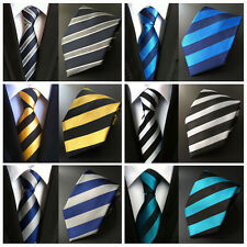 Mens Striped Pattern Jacquard Neck Ties 8cm Polyester Elegant Neckties HZ030