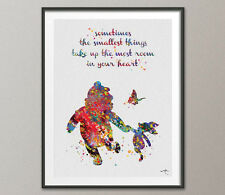 Winnie the Pooh with Piglet Quote Watercolor, sometimes the, Print Wall Art 9