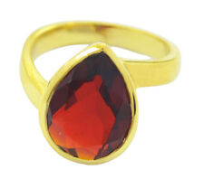 Ruby CZ Gold Plated Ring radiant Red supply AU K,M,O,Q