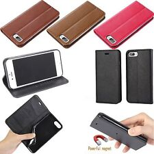 Carry PU Leather Flip Wallet Card Case Pouch Magnetic Tab For iphone 7 7 Plus