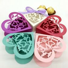 100 pcs Luxury Laser Cut Sweets Cake Candy Gift Favour Favor Boxes - Love #2