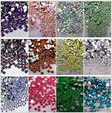 1000pcs Women DIY Decoration 3D Acrylic Nail Art Tips Flat Crystal Rhinestones