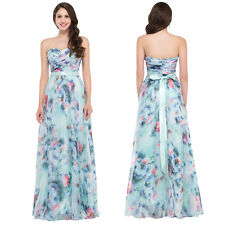 Strapless Chiffon Bridesmaid Formal Gown Ball Party Cocktail Evening Prom Dress