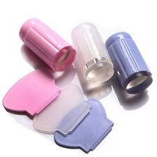 Clear Nail Art Jelly Stamper Stamp Scraper Set Polish Stamping Manicure Tools